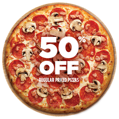 Expired:[Pizza Pizza Canada Coupon] 50% off pizzas only today (June 8th)