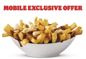 Expired:[Burger King Canada] Free Burger King Poutine with purchase over $1